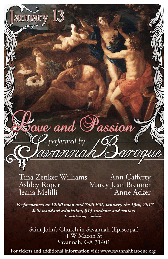Love and Passion Jan 13 2017 concert poster