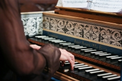 5.2017 Anne A hands and harpsichord nameboard