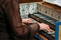 5.2017 Anne A playing two manuals closeup