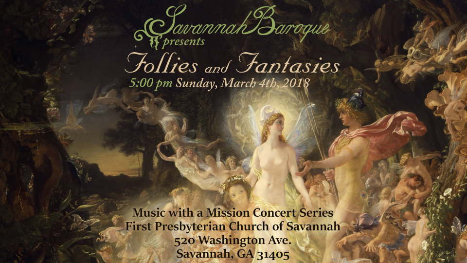 Follies and Fantasies March 4, 2018 concert flyer