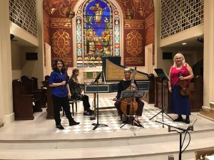 Members of Savannah Baroque perform in Savannah Philharmonic Larsen Musician Spotlight Series Oct 2018
