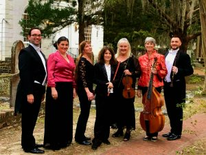 Members of Savannah Baroque outside St. Helena's Parish 2.16.19